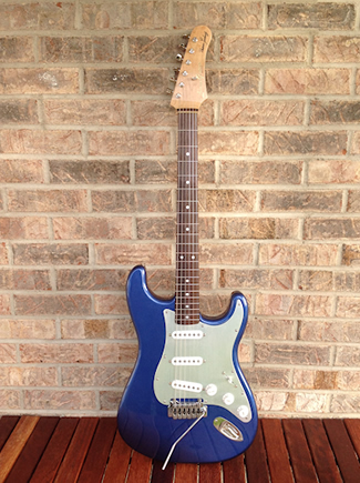 Custom Metallic Blue Strat