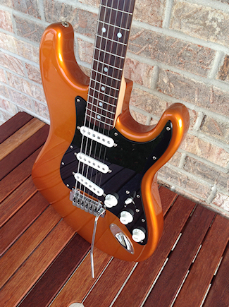 Custom Metallic Orange Strat